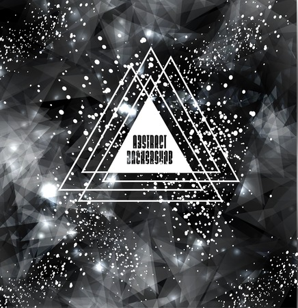 Hipster cosmic background, polygonal triangles and space background Vector