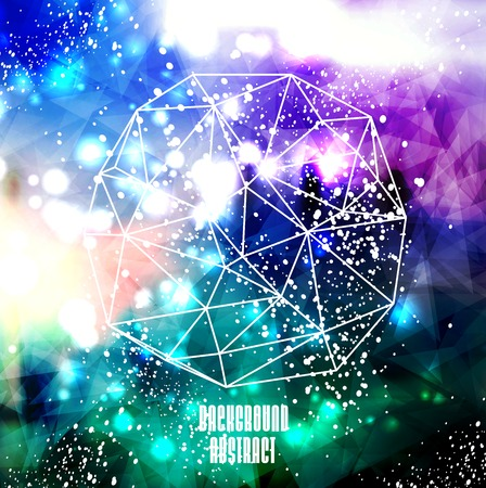 Hipster cosmic background, polygonal triangles and space background Stock Vector - 26338623