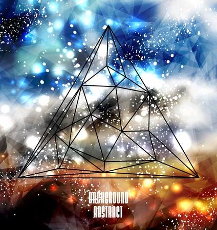 Hipster cosmic background, polygonal triangles and space background Stock Vector - 26338678