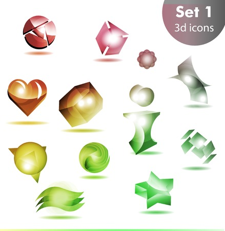icon set  for wesite, info graphic. Abstract colorful Vector