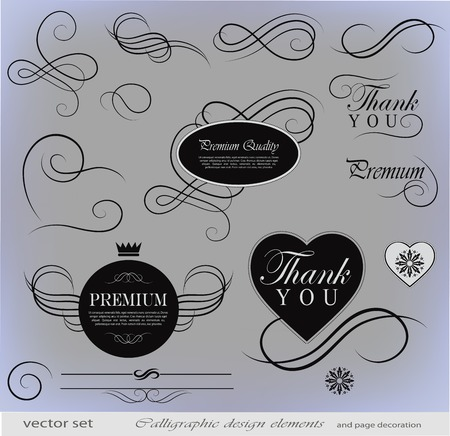 calligraphic design elements can be used for invitation, congratulation or website Stock Vector - 27135944