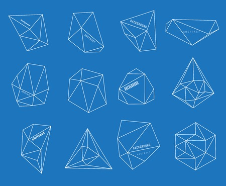 Hipster cosmic background, polygonal triangles and space background