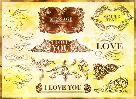 calligraphic design elements can be used for invitation, congratulation or website Stock Vector - 27136060