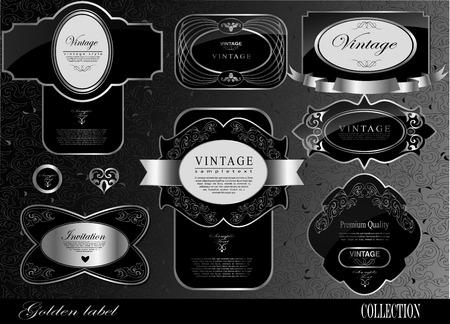 Retro black label/can be used for invitation, congratulation Stock Vector - 27136133