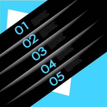 abstract number line background. Modern, clean, design template, can be used for info-graphics, numbered banners, graphic or website layout Stock Vector - 27136192