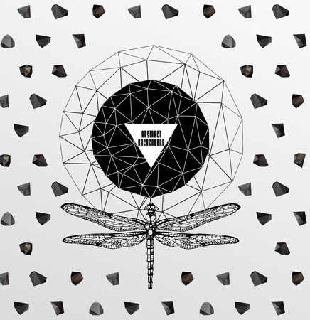 Abstract  gothic sacral illustration with polygon,  crystal design element, symbol, sign for tattoo Stock Vector - 27136431