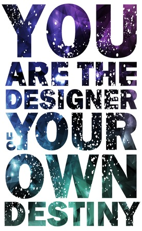 Quote Typographical galaxy Background, vector design can be used for invitation, congratulation or website Ilustração