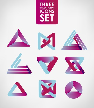 Business design elements  icon set, three-dimensional quality vector-icon  with a lot of variety ideal for business , flayer and presentation.