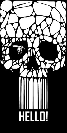 Abstract  gothic sacral skull with polygon,  crystal design element, symbol, sign for tattoo Stock Vector - 27137052