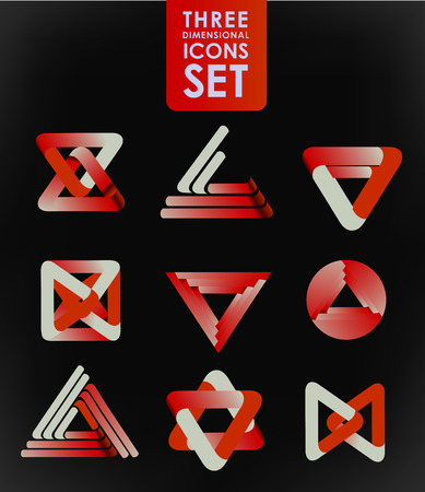 Business design elements  icon set, three-dimensional quality vector-icon  with a lot of variety ideal for business , flayer and presentation. Vector