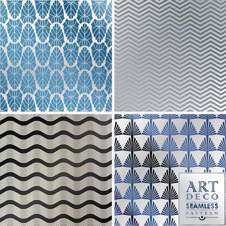 Art Deco seamless vintage wallpaper pattern can be used for invitation, congratulation Vettoriali