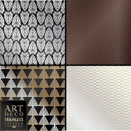 Art Deco naadloze vintage behang patroon kan worden gebruikt voor de uitnodiging, felicitatie Stock Illustratie