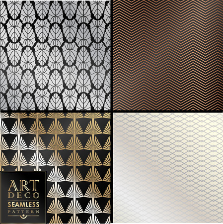 Art Deco seamless vintage wallpaper pattern can be used for invitation, congratulation Ilustrace