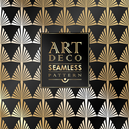 20s: Art Deco seamless vintage wallpaper pattern can be used for invitation, congratulation Illustration