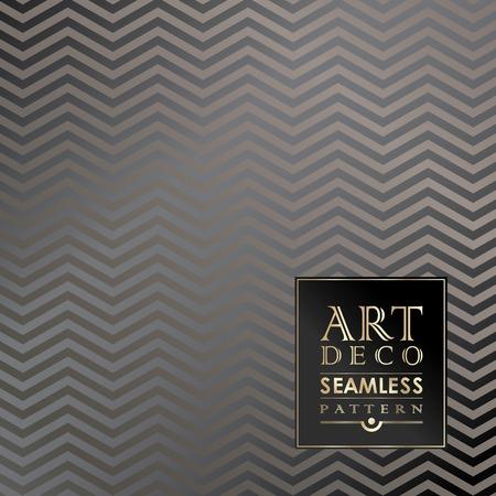Art Deco seamless vintage wallpaper pattern can be used for invitation, congratulation Ilustração