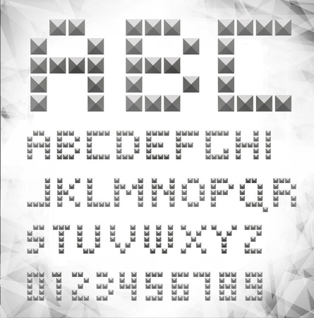 silver pixel font with stud  can be used banners, invitation, congratulation