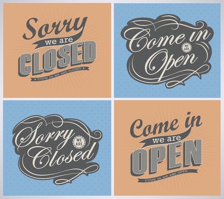 stiker: Closed Vintage retro signs