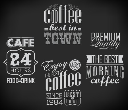 Poster lettering take coffee/best in town photo