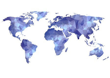 世界地図背景ポリゴン スタイルでは、ウェブサイト、情報グラフィックス、バナーに使用できます。 写真素材