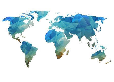 Carte du monde de fond dans le style polygonal peut être utilisé pour le site Web, info-graphique, bannière. Banque d'images - 27295663