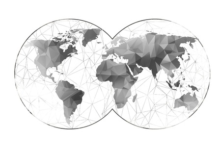 World map background in polygonal style  can be used for website, info-graphics, banner.
