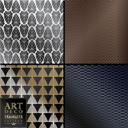 Art Deco vintage behang patroon kan worden gebruikt voor de uitnodiging, felicitatie