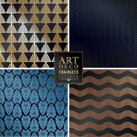 Art Deco Vintage-Tapeten-Muster Für Einladung, Glückwünsche ...