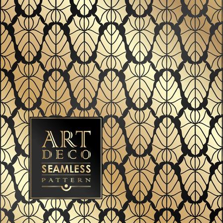 Art Deco vintage wallpaper pattern can be used for invitation, congratulation Vettoriali