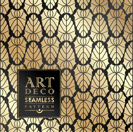 titled: Art Deco vintage wallpaper pattern can be used for invitation, congratulation Illustration