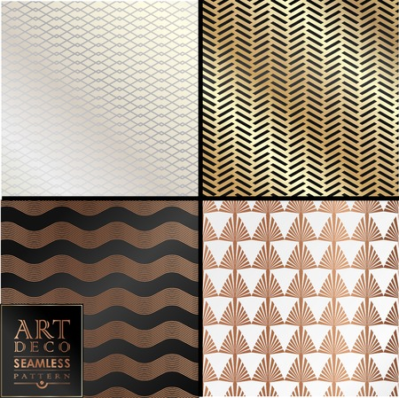 great: Art Deco vintage wallpaper pattern can be used for invitation, congratulation Illustration