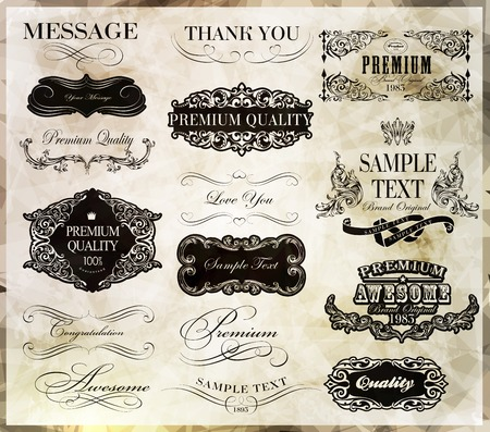 calligraphic design elements and page decoration calligraphic design elements and page decoration
