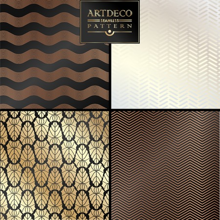 Art Deco vintage wallpaper pattern can be used for invitation, congratulation Ilustração