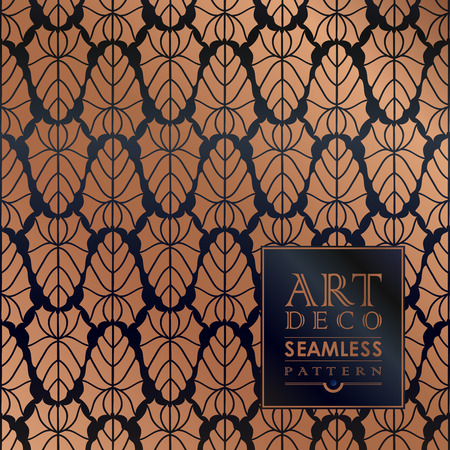 30s thirties: Art Deco vintage wallpaper pattern can be used for invitation, congratulation Illustration