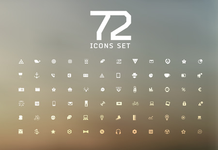 universal modern icons for web and mobile app, business, finance, multimedia, hipster style