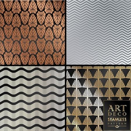 招待状、お祝いのアールデコ ヴィンテージ壁紙パターンは使用できます。