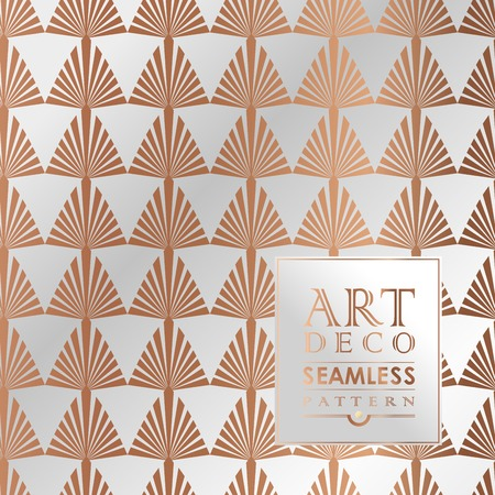 art deco background: Art Deco vintage wallpaper pattern can be used for invitation, congratulation Illustration