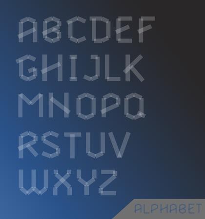 creative arts: Transparent cut alphabet set. Typographic sign, design illustration