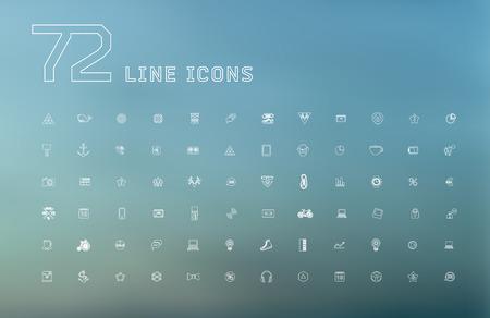 Modernos iconos delgada línea universales para la web y de aplicaciones móviles, negocios, finanzas, multimedia, estilo inconformista Foto de archivo - 42598977