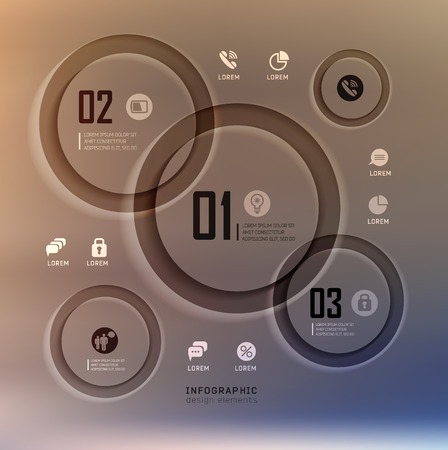 plat: Transparent web site, business Infographics, plat elements on blur landscape can be used for workflow layout, banner, step up options,  number options,  web template Illustration