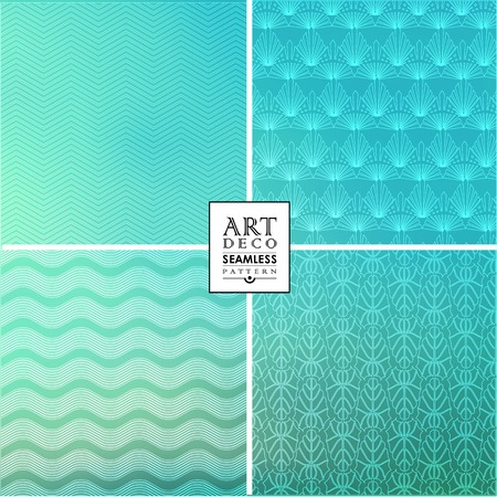 30s: Art Deco thin line wallpaper pattern  can be used for invitation, congratulation