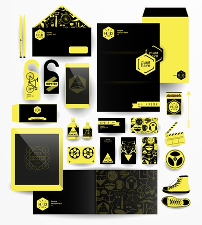 business letter: Corporate identity templates Corporate identity templates Corporate identity templates Illustration