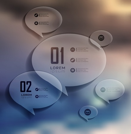 step up: Transparent bubble, Infographics on blur landscape can be used for workflow layout, banner, step up options,  number options,  web template Illustration