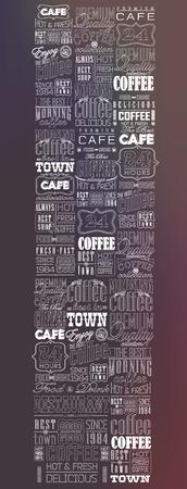 Mega set of thin line Vintage Retro Coffee  Labels and typography. Coffee decoration collection Ilustração