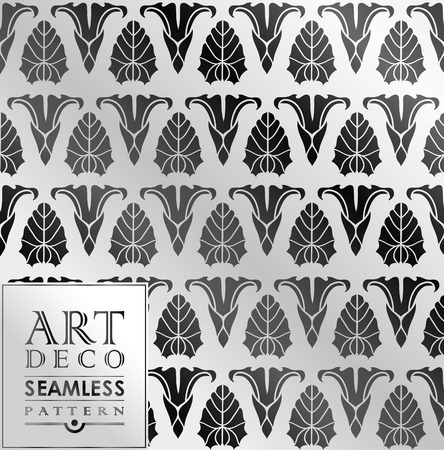 thirties: Art Deco vintage wallpaper pattern can be used for invitation, congratulation Illustration