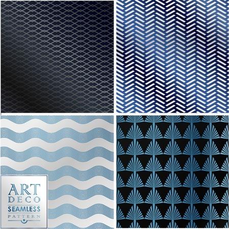 roaring: Art Deco vintage wallpaper pattern can be used for invitation, congratulation Illustration