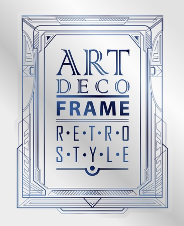 invitation frame: Art deco geometric vintage frame can be used for invitation, congratulation