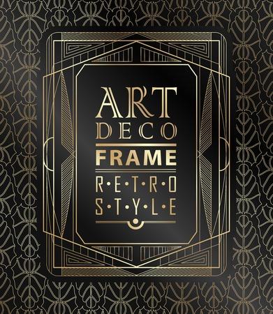 line art: Art deco marco geom�trico de la vendimia se puede utilizar para la invitaci�n, felicitaci�n Vectores