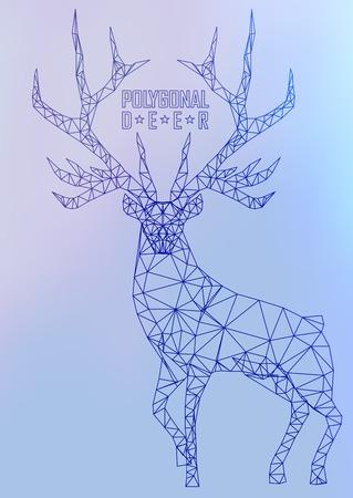 polygonal: Abstract polygonal deer. Geometric hipster illustration. Polygonal antlers. Illustration