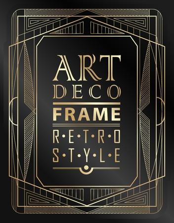 Art deco marco geométrico de la vendimia se puede utilizar para la invitación, felicitación Foto de archivo - 42749453