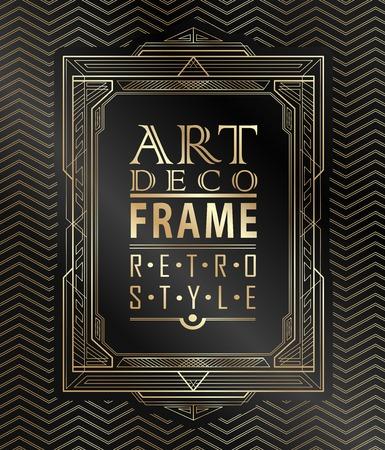 Art-Deco-geometrischen Vintage-Rahmen für Einladung, Glückwünsche verwendet werden, Standard-Bild - 42749457